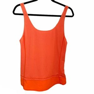 Lululemon Mod Moves Orange Tank Top Size 6